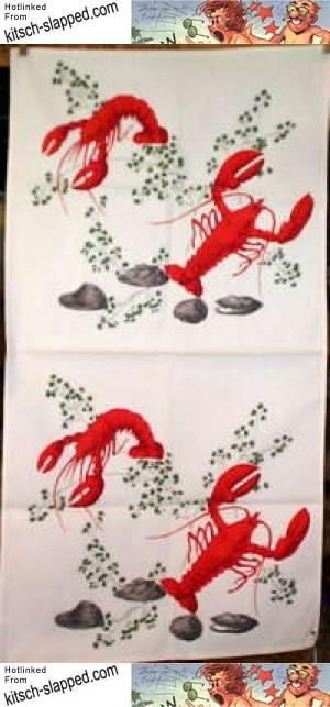 vintage-lobster-print-towel