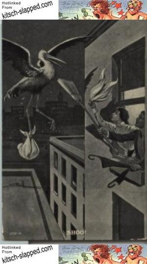 shoo-vintage-stork-postcard