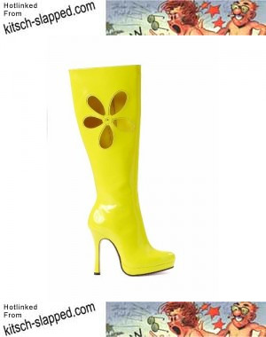yellow-go-go-boots-with-flower-power-cut-out