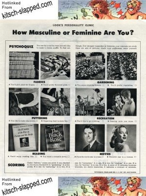 How Masculine Or Feminine Are You?   Kitsch-Slapped