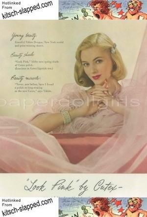 1948 vikkie vikki dougan cutex ad