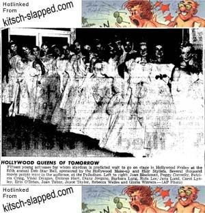 hollywood queens of tomorrow deb ball october 12 1957