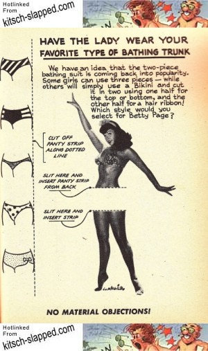 Vintage Bettie Page Paper Doll by Lou Magila 1954