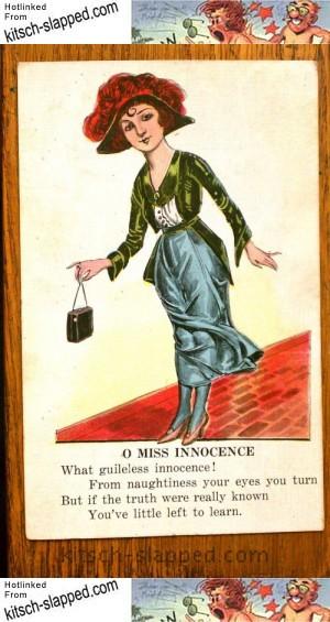 antique miss innocence postcard