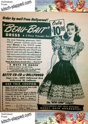 beau bait vintage fashion ad