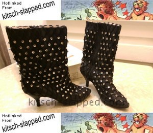 black sequin covered desperately seeking susan boots 1985 ...