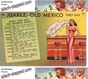 racist sexist vintage postcard