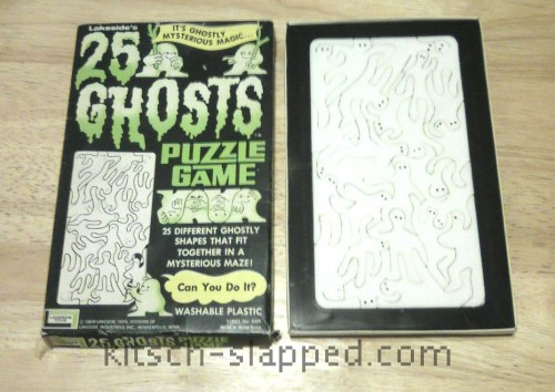 vintage 25 ghosts puzzle game