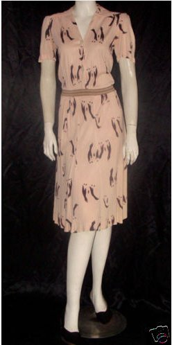 1930s-penguin-print-dress