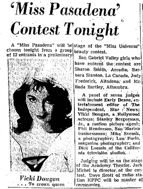 miss pasadena indendent dougan judge may 27 1959
