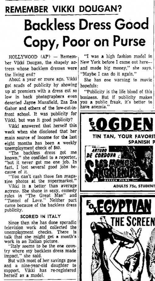 remember vikki dougan ogdon standard examiner oct 25 1959