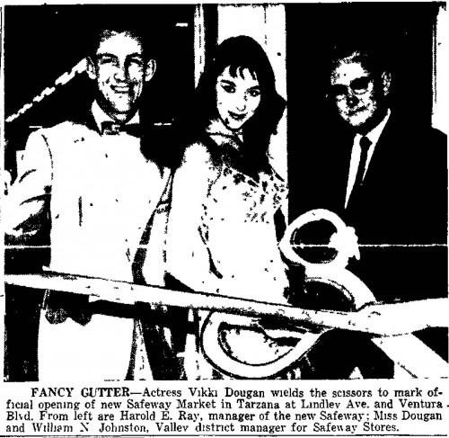 vikki dougan opens grocery store van nuys valley news dec 22 1957
