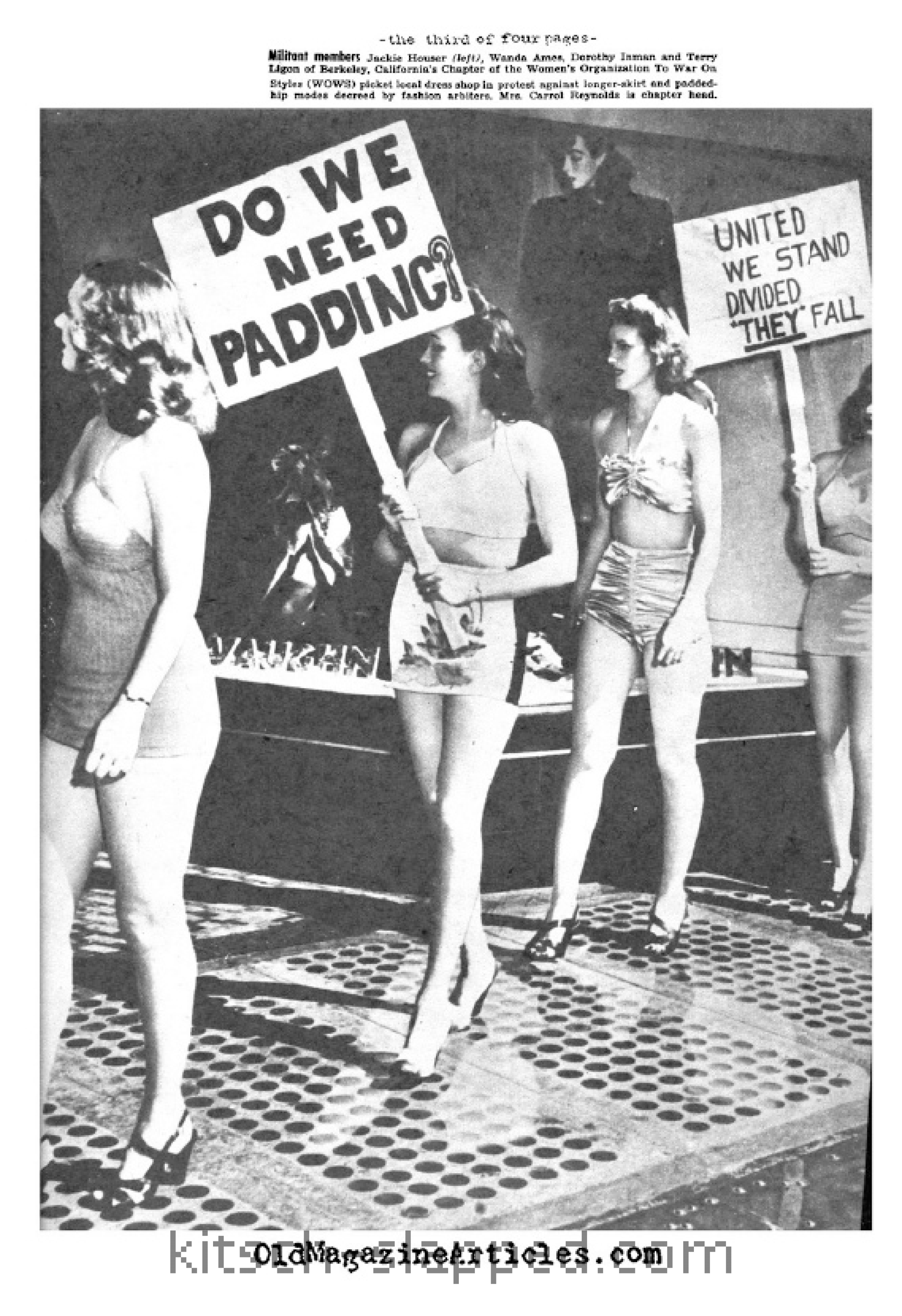 1948 new look fashion complaints