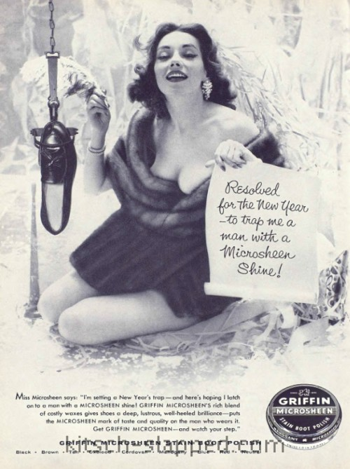 new years vintage shoe polish ad