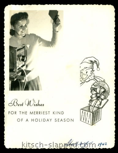 1942 holiday photographer card