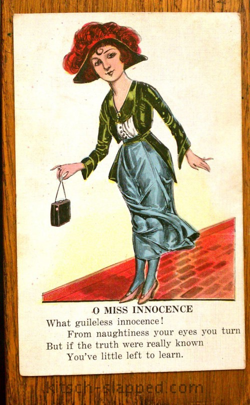 antique miss innocence postcard