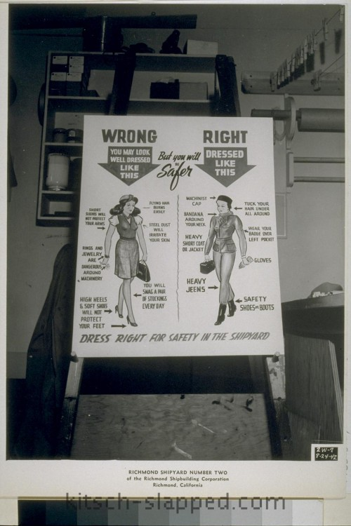 dressing right for safety women in wwii