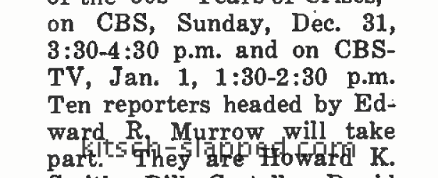 Doing some research for doll articles, I ran into this bit from the December 18, 1950 issue of Broadcasting Telecasting about a one hour, Chevrolet sponsored, CBS radio & TV […]