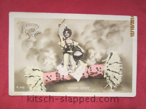 Adeline Genee Postcard Happy New Year vintage antique