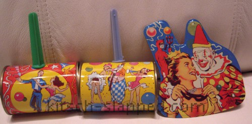 vintage pinup news years party noise makers