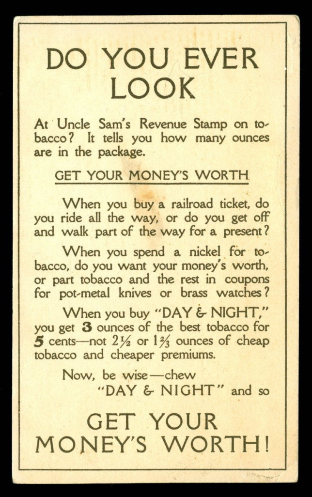 uncle sam's tax stamp tobacco