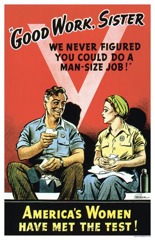 good work sister vintage wwii women poster