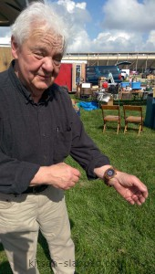 dean at elkhorn antique flea market wearing jord wood watch