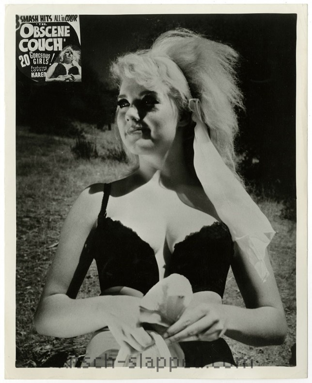 vintage The Obscene Couch karen in lingerie still promo photo